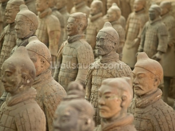Terracotta Warriors mural wallpaper