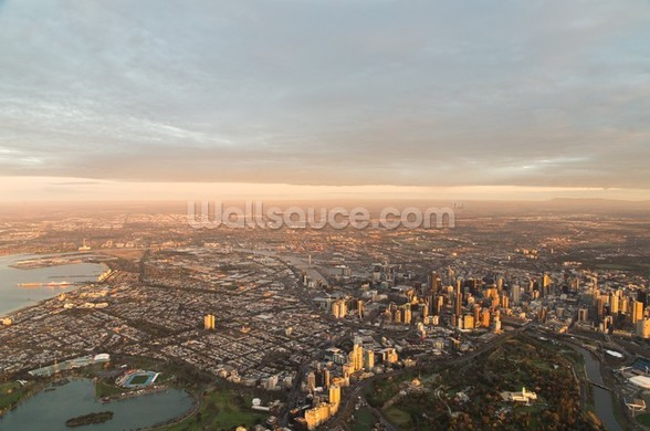 Aerial View of Melbourne wall mural