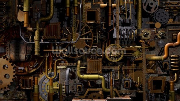 The Machine wall mural