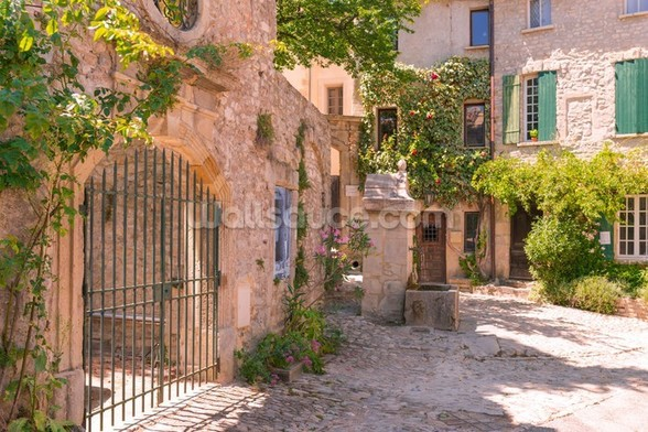 Old town in provence mural wallpaper