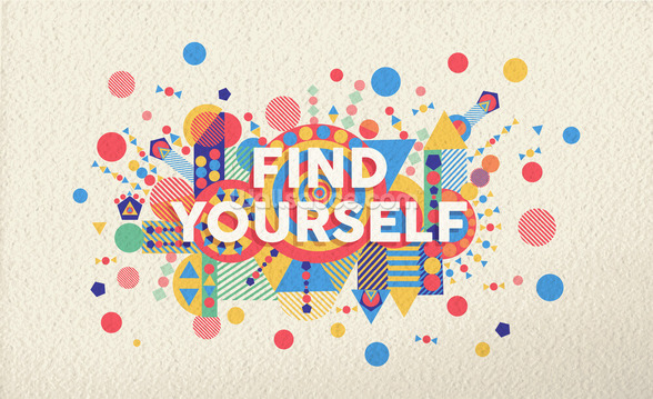 Find Yourself wallpaper mural