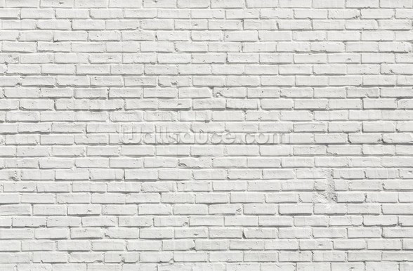 White Brick Effect Wall mural wallpaper