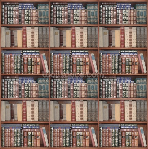 Repeating Books mural wallpaper