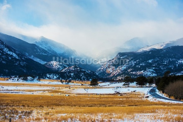 Mountains Winter Scenery wallpaper mural