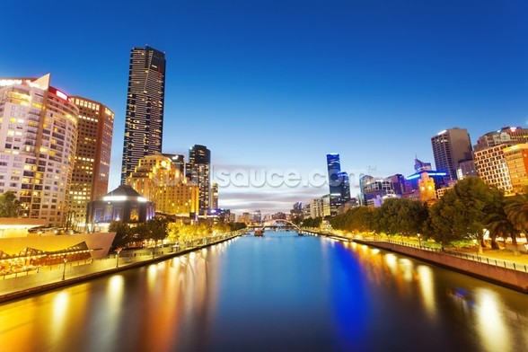 Yarra River in Melbourne wall mural