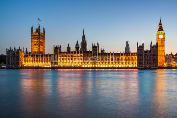 Houses of Parliament at Dusk mural wallpaper