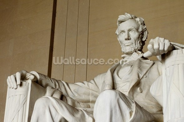 Abraham Lincoln mural wallpaper