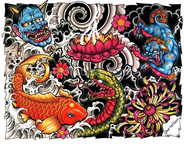 Tattoo wall mural