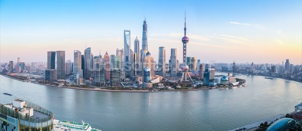 Shanghai Skyline Panoramic wall mural