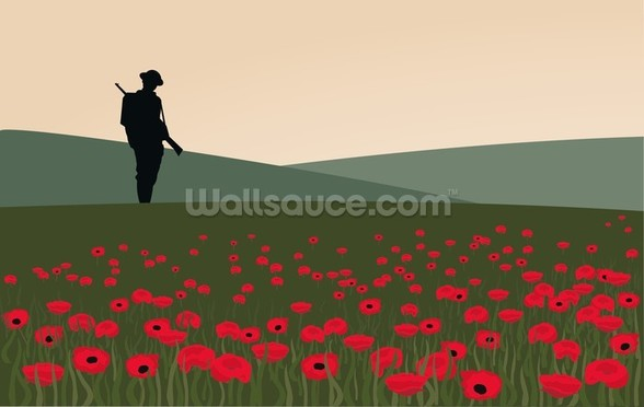 The Lone Soldier WW1 wall mural