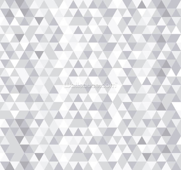 Grey and White Triangles mural wallpaper