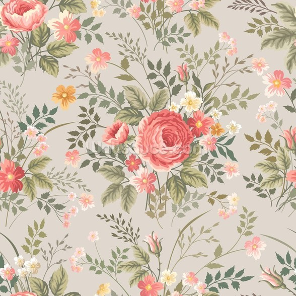 Roses Pattern wall mural