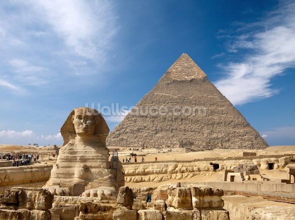 Great Pyramid at Giza wall mural