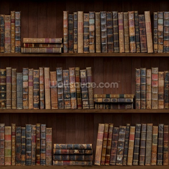 Old Books wall mural