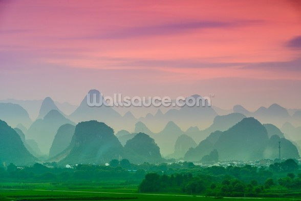 Karst Mountains of Guilin mural wallpaper