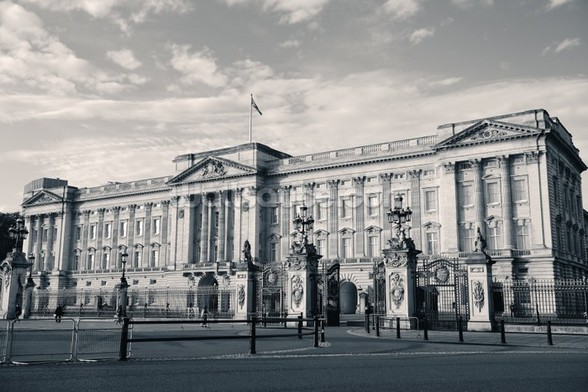 Buckingham Palace B/W wall mural