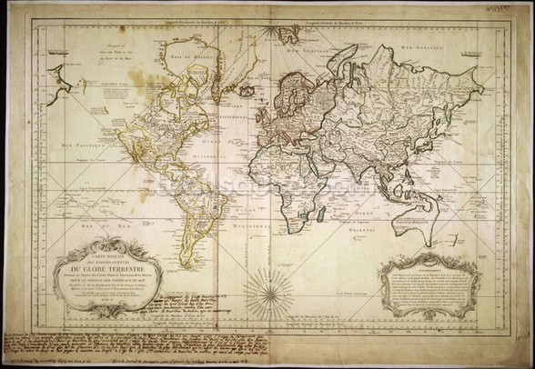 Historic World Map wall mural