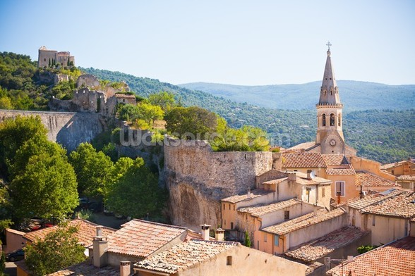 Provence - View of Saint Saturnin les d Apt mural wallpaper