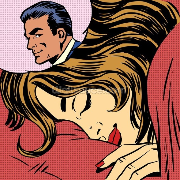 Pop Art Dream Romance wallpaper mural