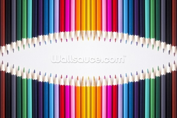 Bright Coloured Pencils wall mural