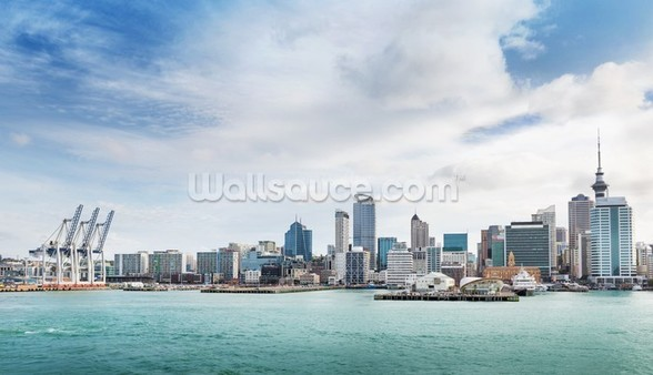 Auckland Harbour wall mural