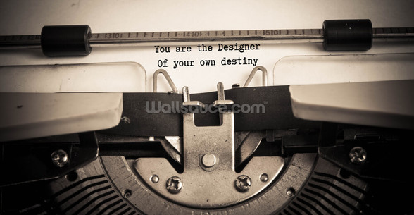 You Are the Designer wallpaper mural