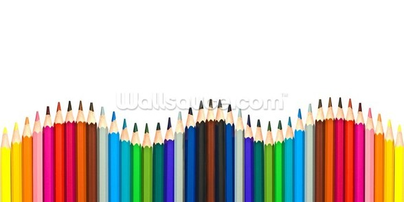Coloured Pencils wall mural