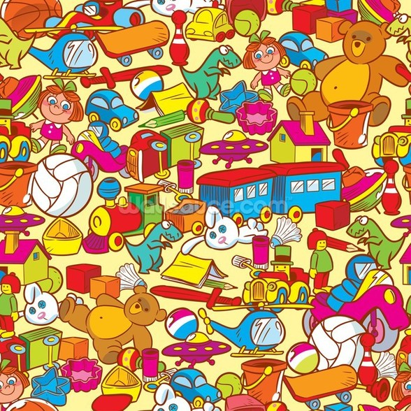 Toys wall mural