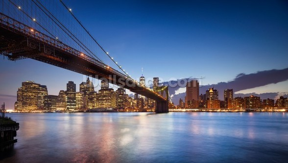 New York Brooklyn Bridge wallpaper mural