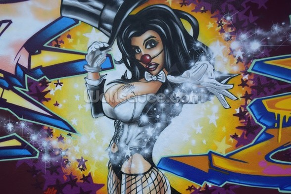 Graffiti - Magic wall mural