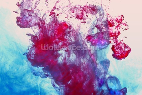Red and Blue Fluids wall mural