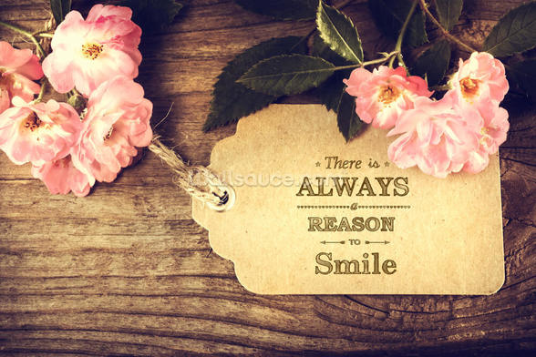 Always Smile Quote wall mural