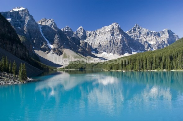 Lake Moraine in Banff National Park mural wallpaper