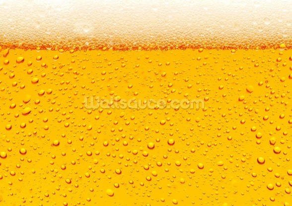 Beer Bubbles wallpaper mural
