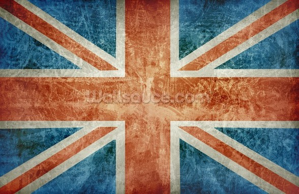 Union Flag mural wallpaper