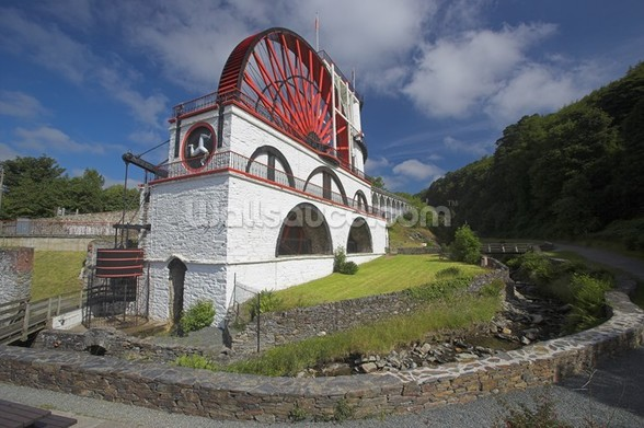 Laxey waterwheel wall mural