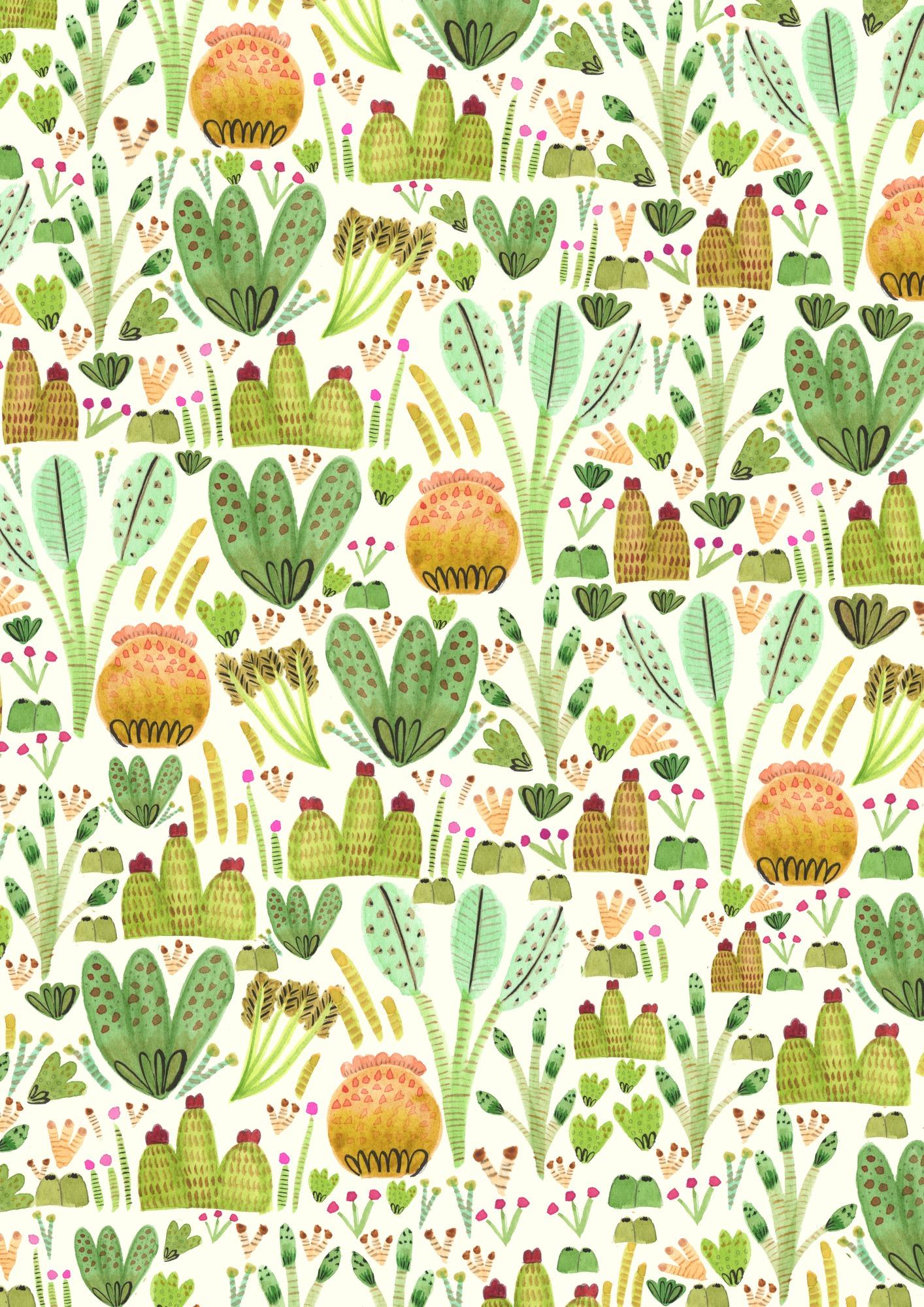 Succulent Garden Wallpaper Mural