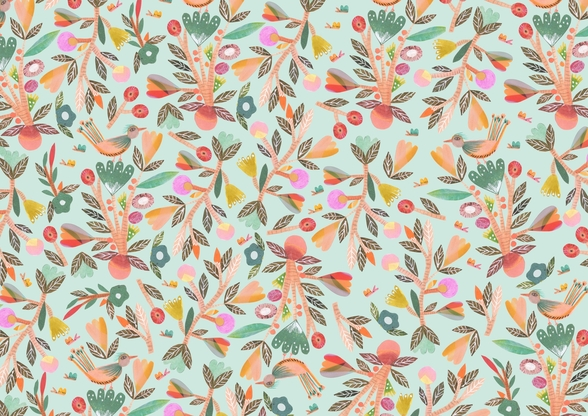 Birdsong wallpaper mural