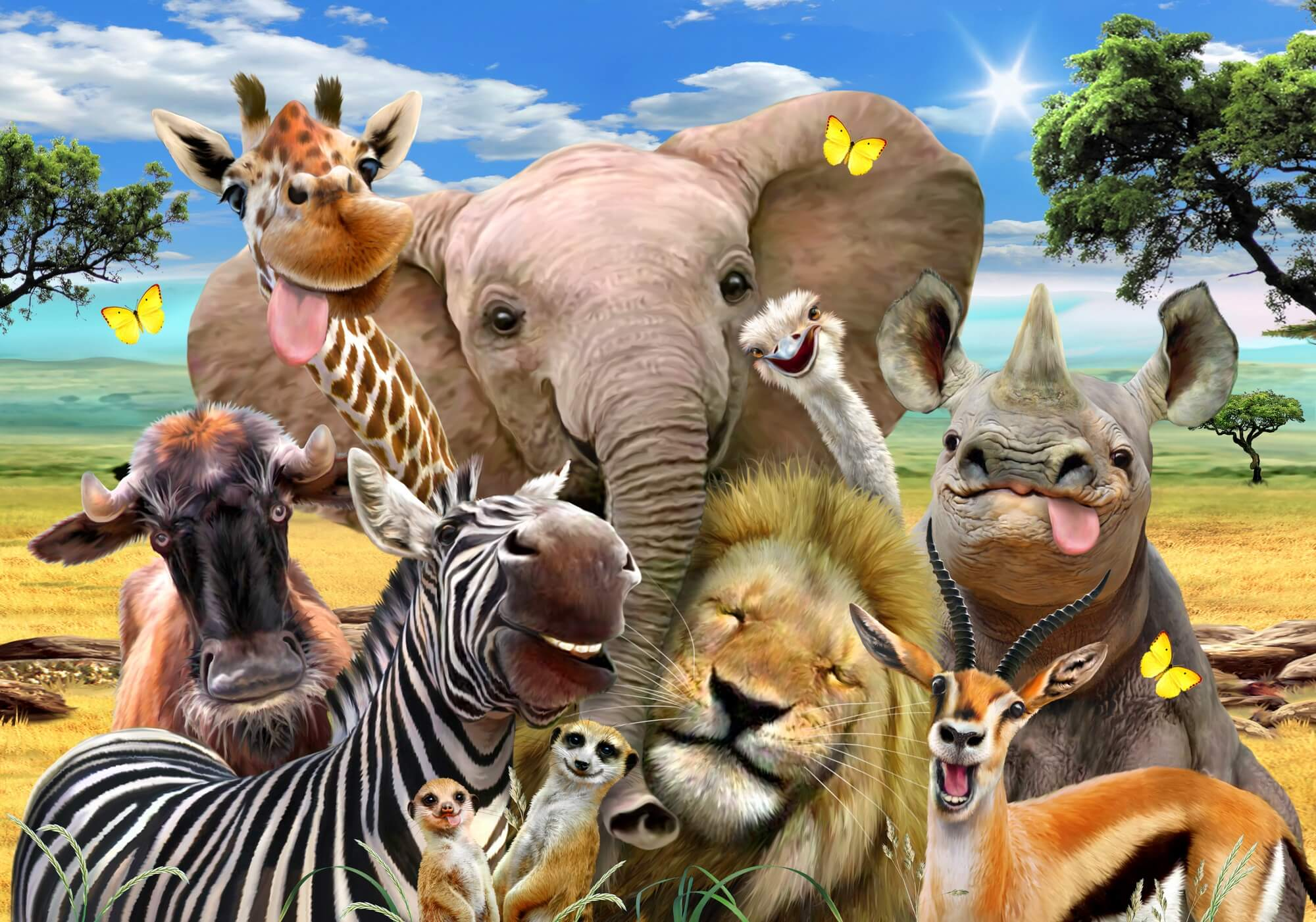 Africa selfie wall mural wallsauce uk - All animals hd wallpapers ...