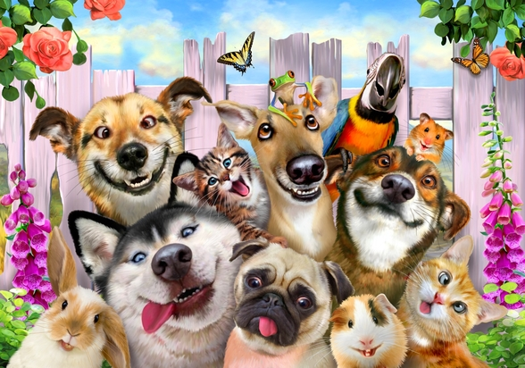 Pet Selfie wallpaper mural