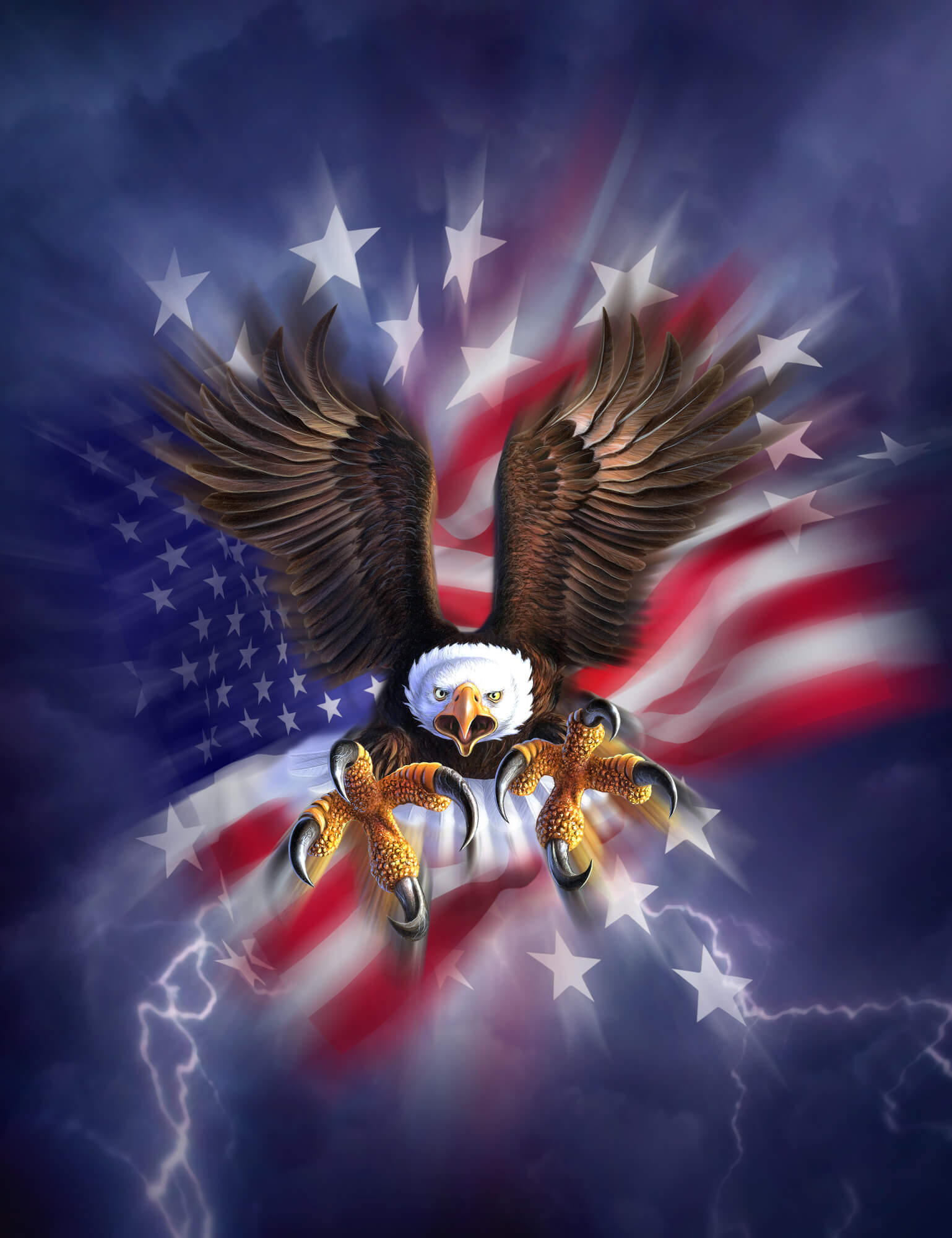 Eagle 2 wall mural eagle 2 wallpaper wallsauce for Eagle wall mural