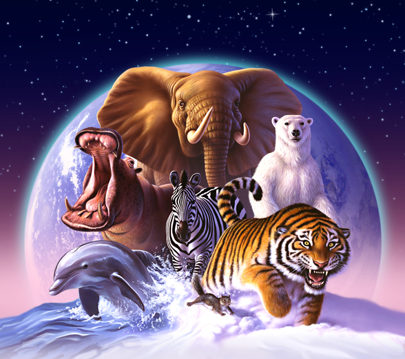 Mammals mural wallpaper