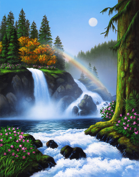 Waterfall wall mural