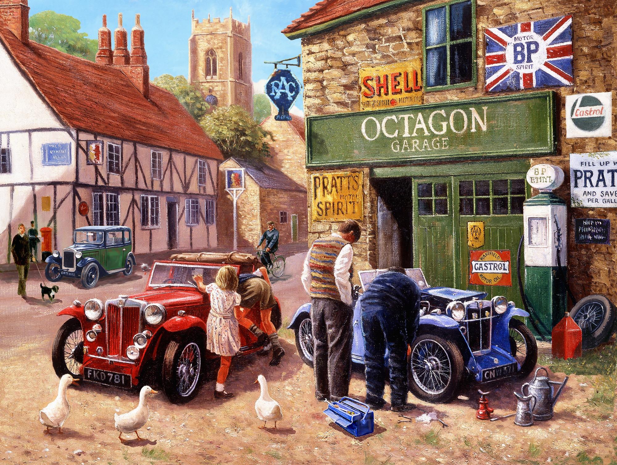 The Village Garage Wallpaper By Kevin Walsh Wallsauce Nz