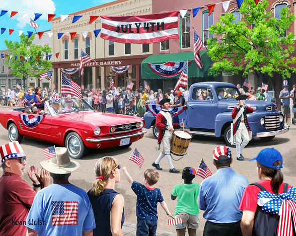 4th July Parade mural wallpaper