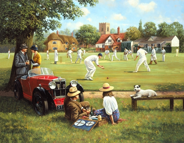 Cricket on the Village Green wall mural