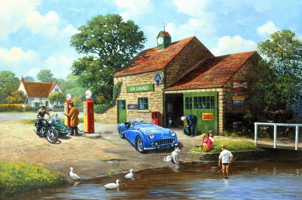 The Village Pumps wallpaper mural