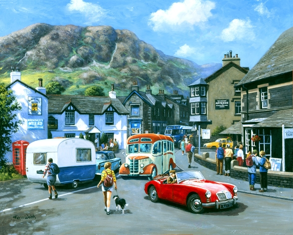 Happy Days Lake District mural wallpaper