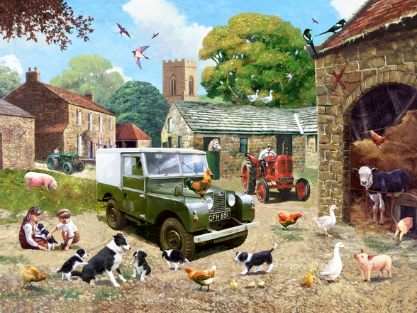 Down on the Farm wall mural