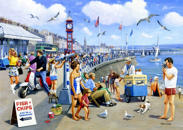 Happy Days Weymouth mural wallpaper